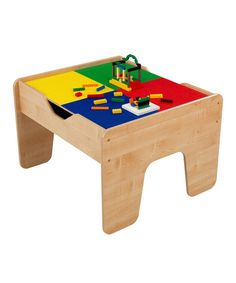 Take a look at this 2-in-1 Activity Table by KidKraft on #zulily today! ~Bought this three years ago and it still looks like new. Grandchildren ages 2 to almost-5 yrs old pay with the train set side and we use the smooth side of the tabletop as a play surface for other toys as well. The almost 3 & 5 year olds play with the Lego side and clean up is so easy - everything goes in the table! ~NK~