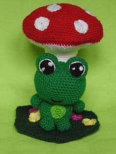 Crochet Frog, Crochet Hats, Crafts To Do, Diy Crafts, Free Pattern, Projects To Try, Sewing, Knitting, How To Make