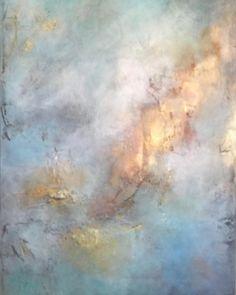 Kess InHouse CarolLynn TICE Reveal Blue Painting Decorative Door 2 x 3 Floor Mat