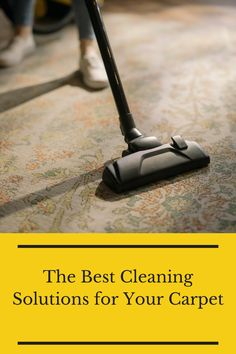 Cleaning your carpets can be hard. That's why we listed out the best cleaning solutions for this flooring type. Flooring 101, Types Of Flooring, Carpet Flooring, Cleaning Solutions, Carpets, Good Things, Canning, Farmhouse Rugs, Rugs