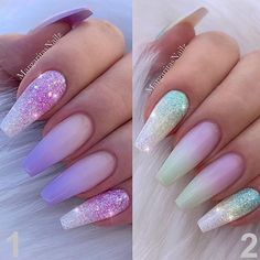 Nail art Christmas - the festive spirit on the nails. Over 70 creative ideas and tutorials - My Nails Fancy Nails, Cute Nails, My Nails, Summer Acrylic Nails, Best Acrylic Nails, Diy Ongles, Pastel Ombre, Purple Ombre Nails, Nails Design With Rhinestones