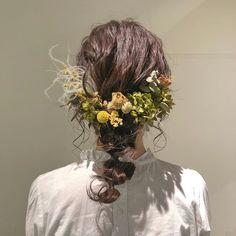 Cute Hairstyles, Wedding Hairstyles, Hair Arrange, Prom Hair, Headdress, Flowers In Hair, Hair Inspo, Grapevine Wreath, Ponytail