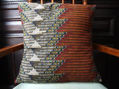 CHEVRON African Wax Print Pillows