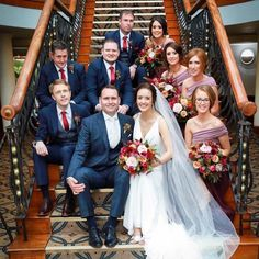 Introducing Mr & Mrs Hynes 💒 👫  Pictured below are Sean and Anna-Rose Hynes who tied the knot last October in the gorgeous Slieve Russel in Ballyconnell 👌🏻  Sean and the lads looked the part as Sean opted for a Remus Uomo 3 piece suit 🙌🏻  If you have any wedding inquiries please contact us directly on 07191 70824 and we will have a member from our wedding team talk you through any questions 😄 Anna Rose, 3 Piece Suits, Bridesmaid Dresses, Wedding Dresses, Mr Mrs, Tie The Knots, Our Wedding, October, Fashion