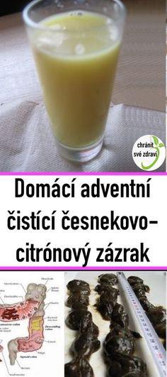 Domácí adventní čistící česnekovo-citrónový zázrak Diy And Crafts, Food, Lemon, Eten, Meals, Diet
