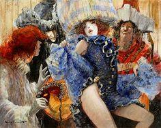 Веселья в них вселился бес... Marcel Nino Pajot .Венецианский карнавал. Обсуждение на LiveInternet - Российский Сервис Онлайн-Дневников