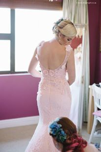 Stunning detail on this soft pink Nicole Hoyer Designs wedding gown South African Fashion, African Fashion Designers, Prom Dresses, Formal Dresses, Wedding Gowns, Backless, Detail, Pink, Tea Length Formal Dresses