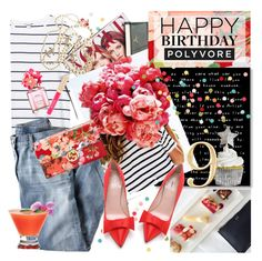 """H A P P Y  B I R T H D A Y  P O L Y V O R E"" by lilith1521 ❤ liked on Polyvore featuring art, contestentry and happybirthdaypolyvore"