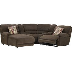 [Devon 5-Piece Sofa Package w/Left-Chaise, Corner and 2 Consoles]