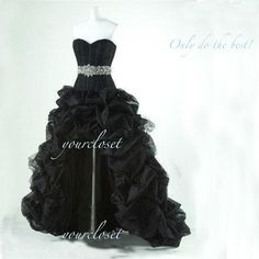 #Gorgeous #black #prom #dresses with beading, #wedding #party #vintage #shopping