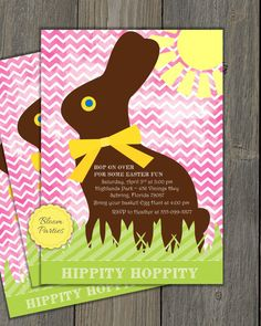 Personalized easter gift tags or stickers diy printable easter invitation from easter brunch easter egg hunt easter birthday party negle Choice Image