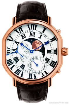 Bvlgari Daniel Roth Grande Lune automatic watch offers unrivaled accuracy of its moonphase complication. Mens Designer Watches, Luxury Watches For Men, Patek Philippe, Cartier, Datejust Rolex, Moonphase Watch, Bvlgari Watches, Swiss Army Watches, Cool Watches