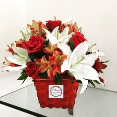 Send flowers to Pune | Blooms Only Perfect arrangement of lilies, roses, and alstromeria flowers in a basket. Send this basket with lots of love , prosperty to dear once on her birthday. Click here: http://www.bloomsonly.com/buy-rosella-bouquet-online-pune