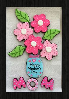 Mothers Day Cookies - Craft and Beauty Mother's Day Cookies, Summer Cookies, Fancy Cookies, Cute Cookies, Easter Cookies, Cupcake Cookies, Mothers Cookies, Mothers Day Desserts, Mothers Day Cake