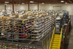 Complete warehouse solution. Hi-Cube provided conveyor systems, mezzanine, shelving, pallet racking and material handling products to the customer. #shelving #palletrack #conveyors #materialhandling #mezzanine #warehouse