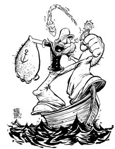 Skottie Young: Popeye suggested by the amazing Gabriel Rodriguez