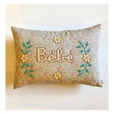 Embroidered Cushion(bebe)