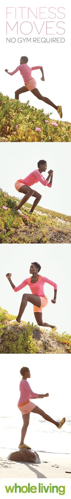 Don't want to go to the gym? No prob. Try these Outdoor Fitness Moves, Wholeliving.com