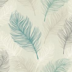 Whisper by Arthouse - Teal : Wallpaper Direct Teal Feather Wallpaper, White Pattern Wallpaper, Light Purple Wallpaper, Black And White Wallpaper, Black White, Teal Wallpaper Living Room, Chevron Wallpaper, Feature Wallpaper, Wallpaper Direct