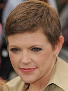 Simple pixie cut for older women. A very short hairstyle with layers, perfect for busy ladies.