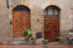 Doors --San Gimignano, Italy Italian Cafe, Murals Your Way, Venice Italy, Doorway, Door Knobs, Tuscany, Wall Murals, Tall Cabinet Storage, Shed