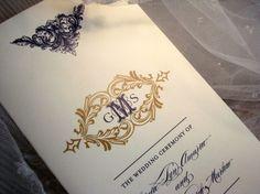 Matrimonio Menu programma Alencon Lace Collection-nozze programma invito o biglietti di ringraziamento