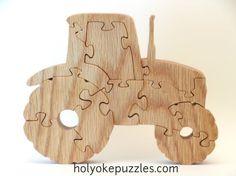 Farm Tractor Jigsaw Puzzle in Oak