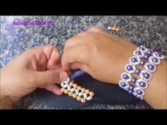 YouTube Diy Jewelry, Beaded Jewelry, Jewelry Making, Beaded Bracelets Tutorial, Beading Techniques, Beaded Crafts, Bead Art, Bead Weaving, Beaded Embroidery