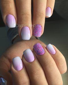 Zobacz na Instagramie zdjęcie użytkownika @vekodasha • Polubienia: 60 Ombre Nail Colors, Sns Nails Colors, Love Nails, Gel Powder Nails, Gel Nails, Fancy Nails, Trendy Nails, Uñas Fashion, Nail Mania