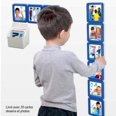 Les séquences visuelles autour des gestes quotidiens sont aussi des aides très précieuses pour les enfants dyspraxiques, les enfants TED et autistes.