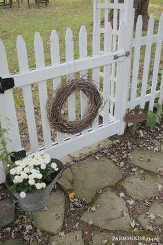 wreath on gate