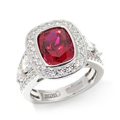 Jean Dousset 6.05ct Absolute™ and Created Ruby Ring