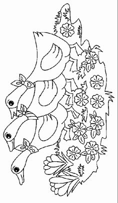 Libás kifestők (goose) - mivagyunk.lapunk.hu Valentine Coloring Pages, Coloring Pages For Kids, Coloring Books, Digi Stamps, Creative Kids, Learn To Draw, Pencil Drawings, Embroidery Patterns, Diy And Crafts