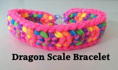 Loom bands DOUBLE CAPPED DRAGON SCALE Rainbow Loom tutorial l JasmineSta...