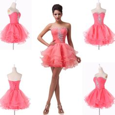 2014 Prom Gown Women Formal Party Evening Cocktail Bead Voile Dress Grace Karin