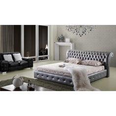 Modrest C019 Modern Silver Leatherette Bed -