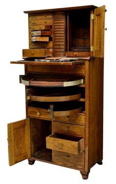 ANTIQUE AMERICAN OAK DENTAL CABINET - would make a pretty sweet refurbished jewelry cabinet!