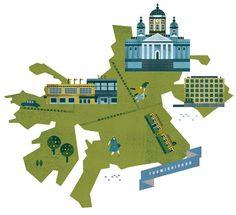 Helsinki Maps by Lotta Nieminen, via Behance: