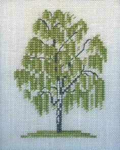Cross Stitch Patterns Free Easy, Cross Stitch For Kids, Cross Stitch Tree, Cross Stitch Borders, Cross Stitch Flowers, Counted Cross Stitch Patterns, Cross Stitch Designs, Cross Stitching, Cross Stitch Embroidery