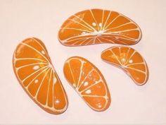 Orange Slices painted rocks  Cute!!! by Superduper