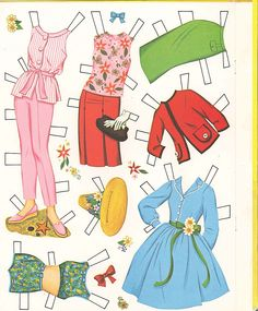 "(⑅ ॣ•͈ᴗ•͈ ॣ)♡                                                             ✄Paper Doll Hayley Mills ""The Moon-Spinners"""