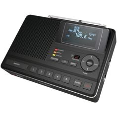 SANGEAN CL-100 Deluxe Tabletop AM-FM Clock Radio with SAME Weather Alert