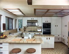 Arbon Residence Major Kitchen Remodel and Addition 1980 Custom Cabinets, Bay Window, Kitchen And Bath, Home Kitchens, Kitchen Remodel, Kitchen Design, New Homes, House, Remodeling