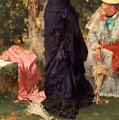 """""""Something in the Air"""" (detail) by Hugo Salmson (1843-1894)."""