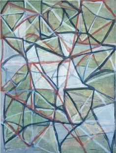 "Brice Marden Untitled # 3 1986-87 Oil on linen 72 x 58"" (182.9 x 147.3 cm)"