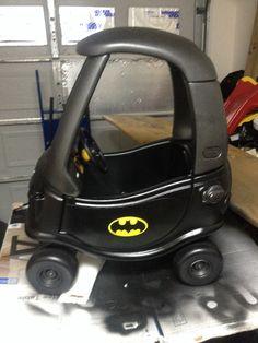 Dylan's Bat Mobile, originally a little tikes police car