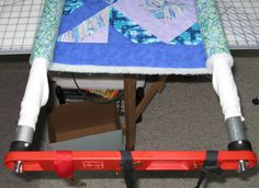 Quilters - As requested: Flynn Multi Frame setup Diy Quilting Frame, Quilting Room, Quilting Tips, Machine Quilting, Pvc Projects, Diy Projects To Try, Nancy Notions, Whole Cloth Quilts, Sewing Hacks
