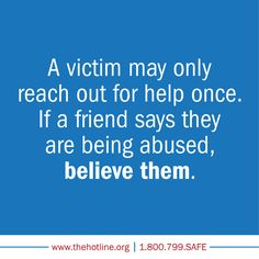 Help a friend or family member who has survived domestic abuse