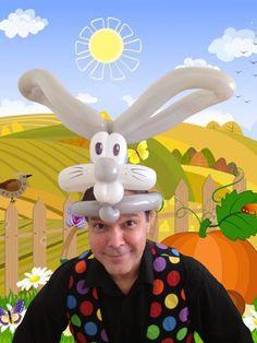 Balloon Bunny Hat from TassieMagic.com.au