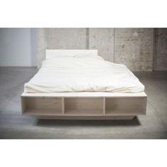das weie massivholzbett luke besticht durch sein design und bietet mit einem regal und einer integrierten